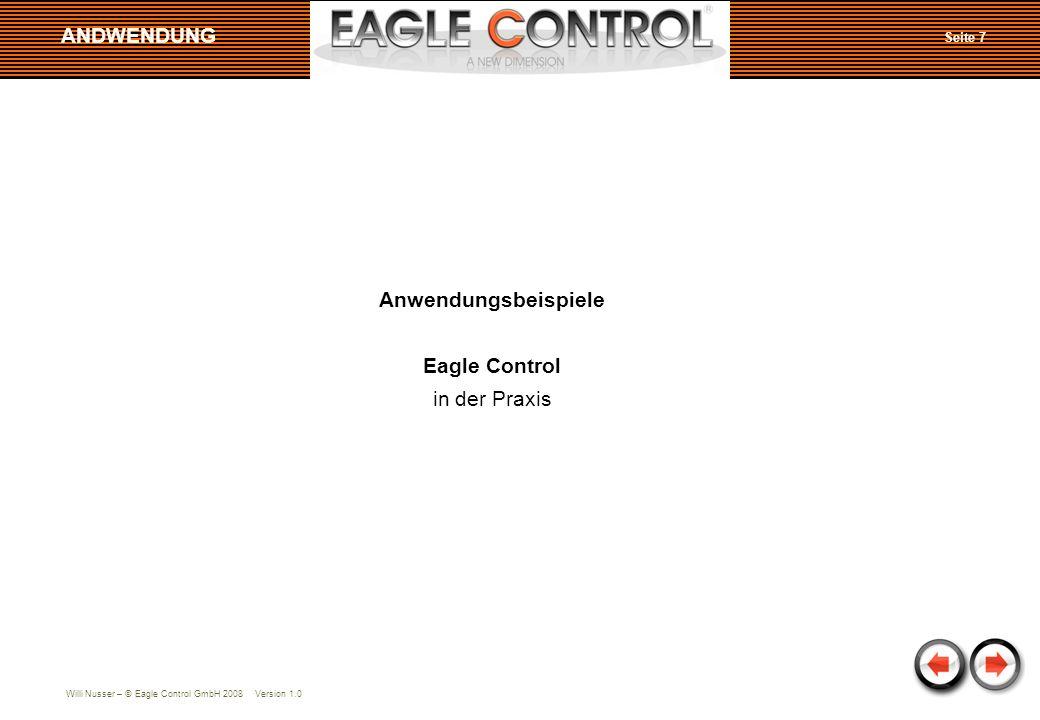 Anwendungsbeispiele Eagle Control