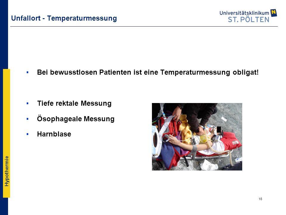 Unfallort - Temperaturmessung