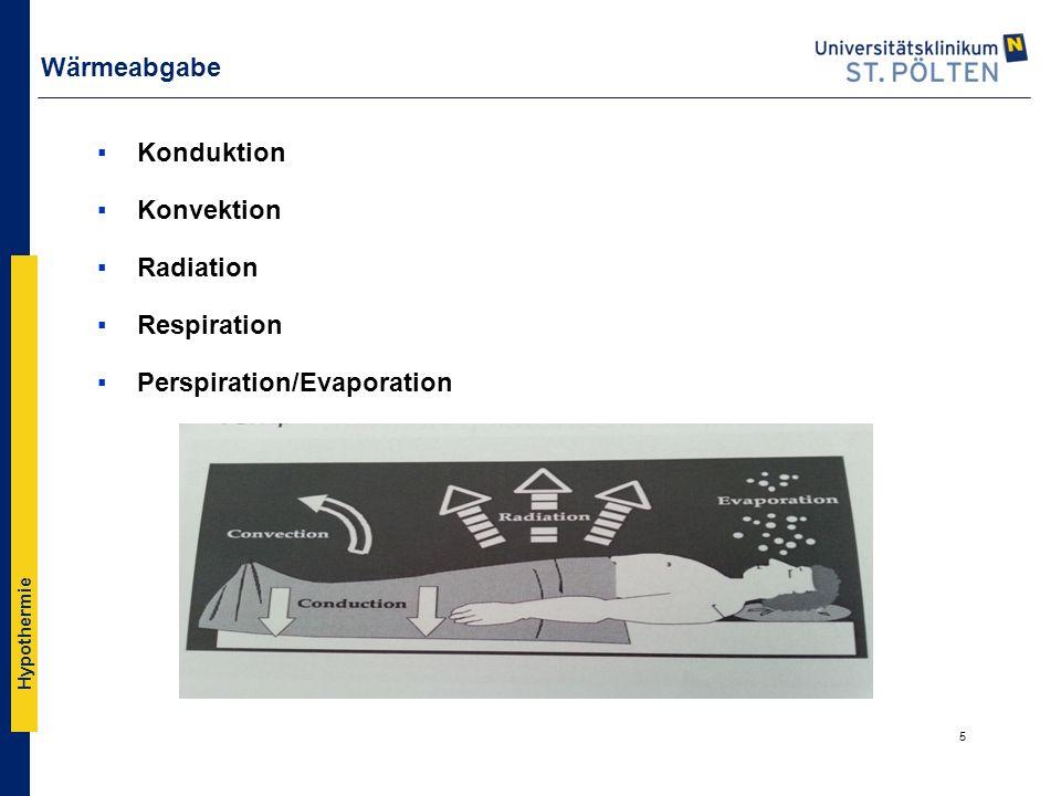 Wärmeabgabe Konduktion Konvektion Radiation Respiration Perspiration/Evaporation