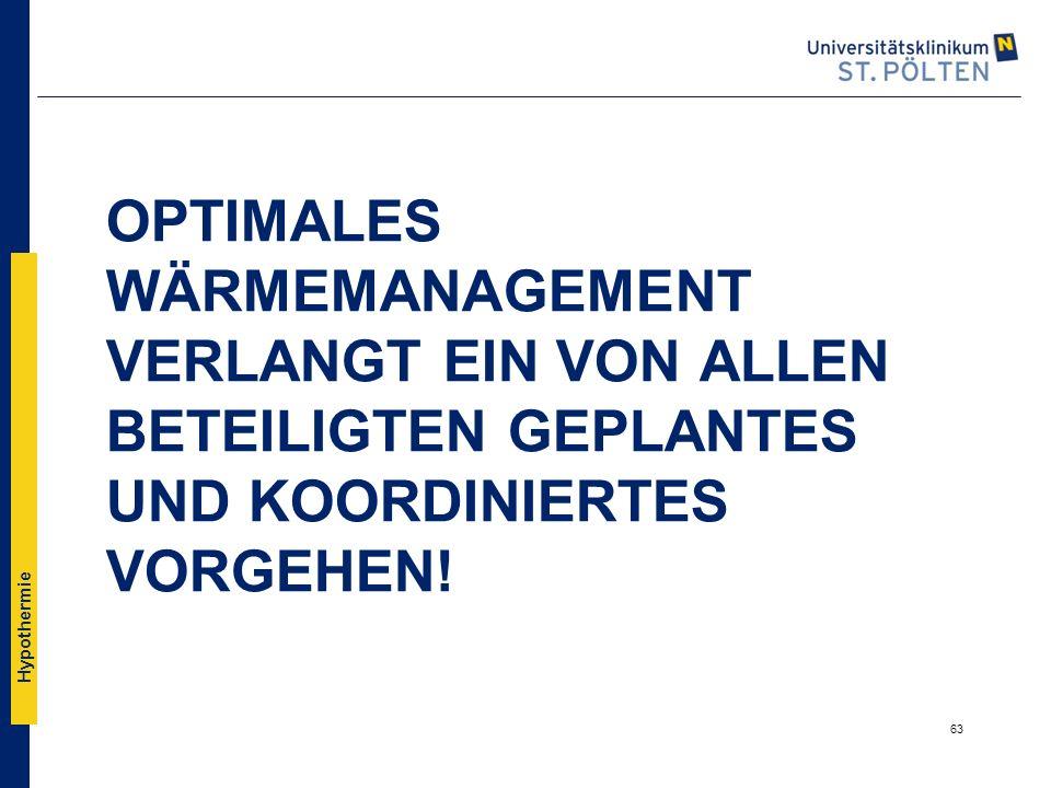 Optimales Wärmemanagement verlangt ein von allen beteiligten geplantes und koordiniertes Vorgehen!
