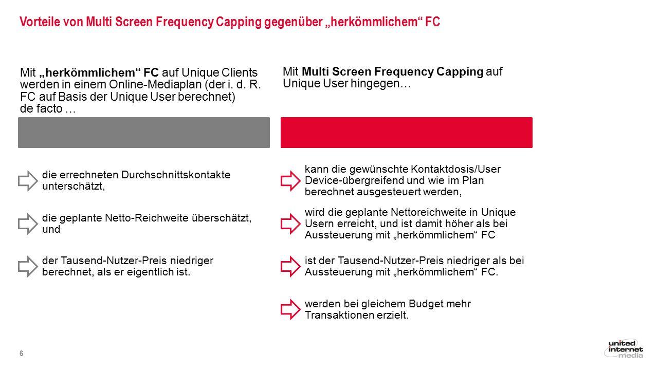 """Vorteile von Multi Screen Frequency Capping gegenüber """"herkömmlichem FC"""