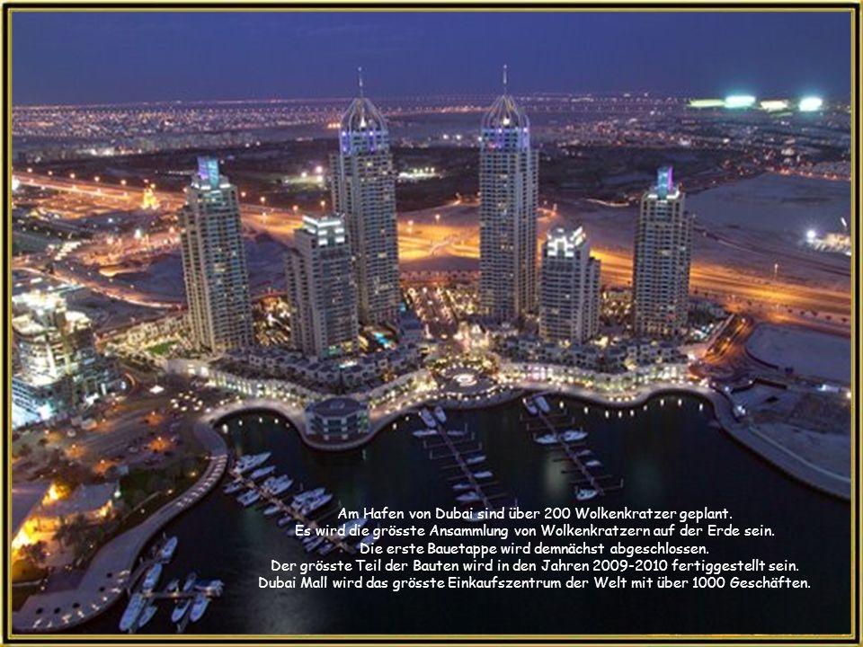 Am Hafen von Dubai sind über 200 Wolkenkratzer geplant