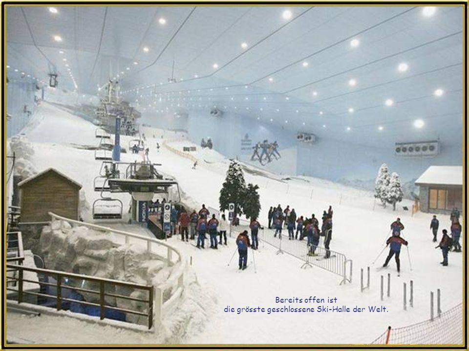 Bereits offen ist die grösste geschlossene Ski-Halle der Welt.
