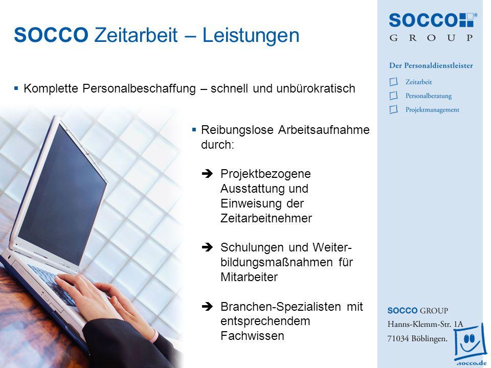 SOCCO Zeitarbeit – Leistungen