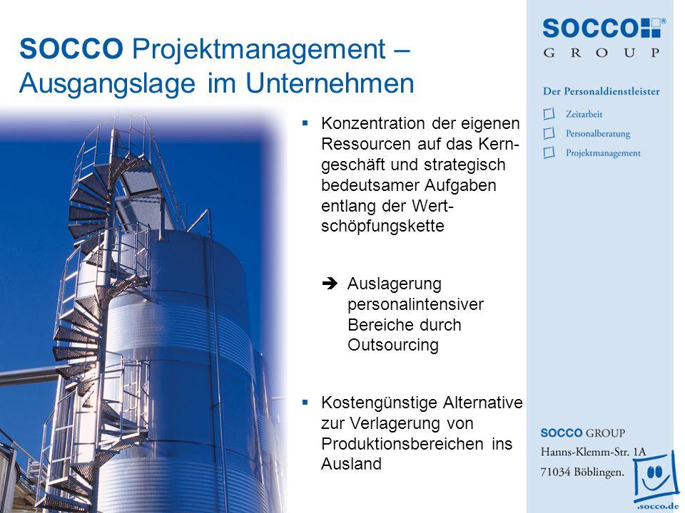 SOCCO Projektmanagement – Ausgangslage im Unternehmen