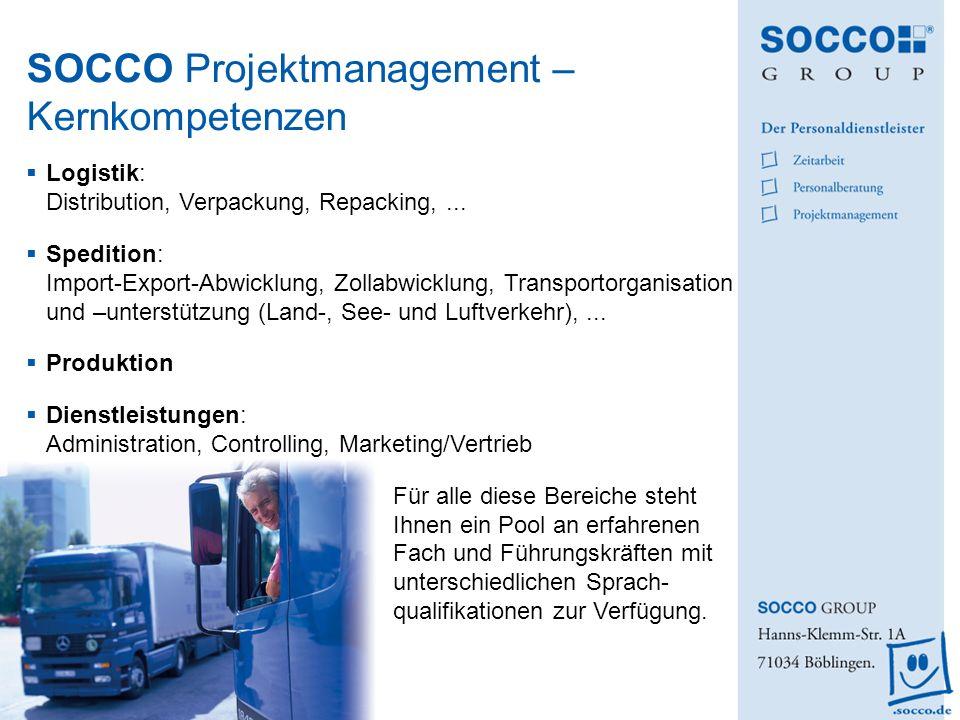 SOCCO Projektmanagement – Kernkompetenzen