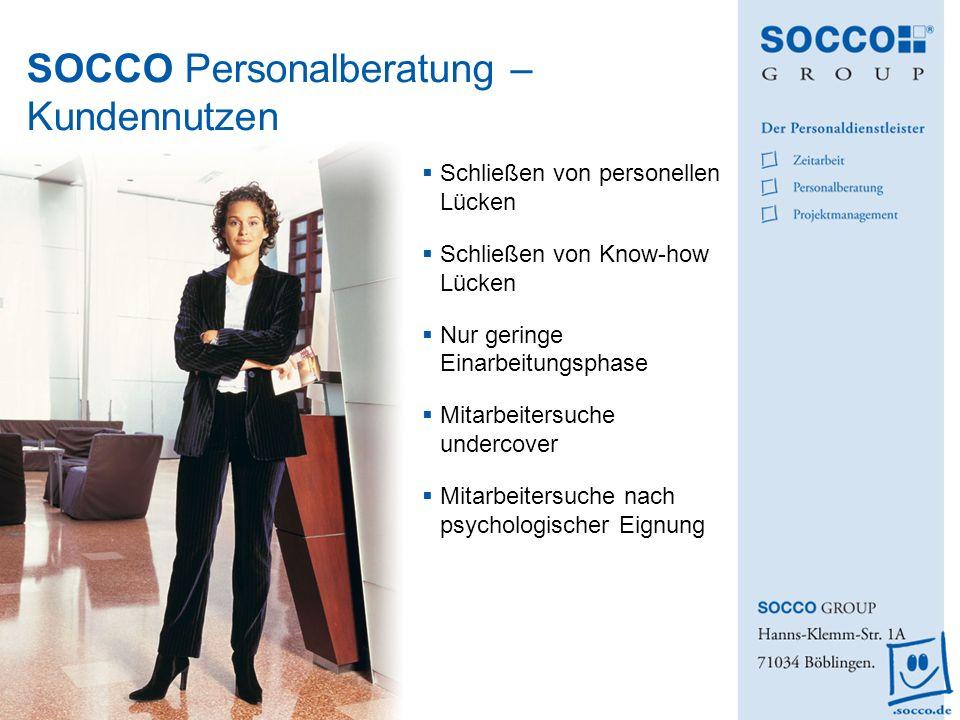 SOCCO Personalberatung – Kundennutzen