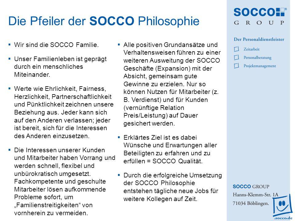 Die Pfeiler der SOCCO Philosophie