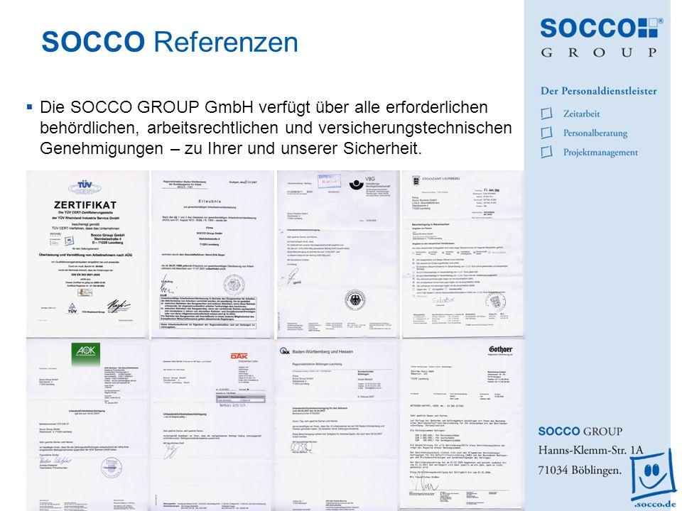 SOCCO Referenzen