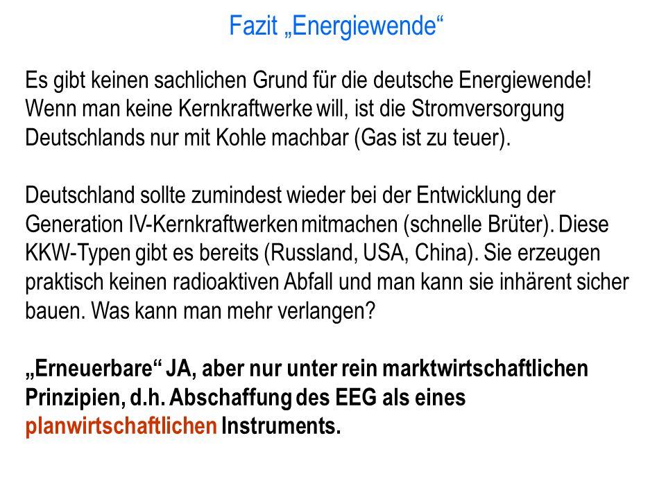 "Fazit ""Energiewende"