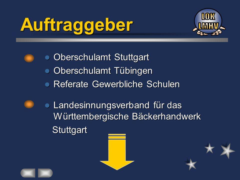 Auftraggeber LOK LMHV Oberschulamt Stuttgart Oberschulamt Tübingen