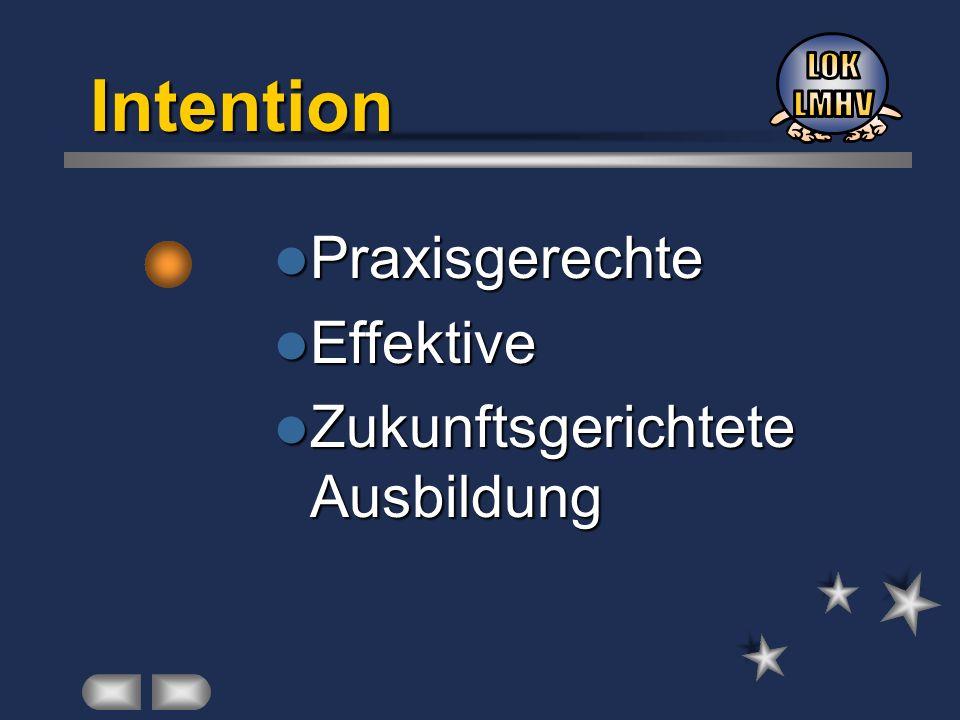 Intention Praxisgerechte Effektive Zukunftsgerichtete Ausbildung LOK