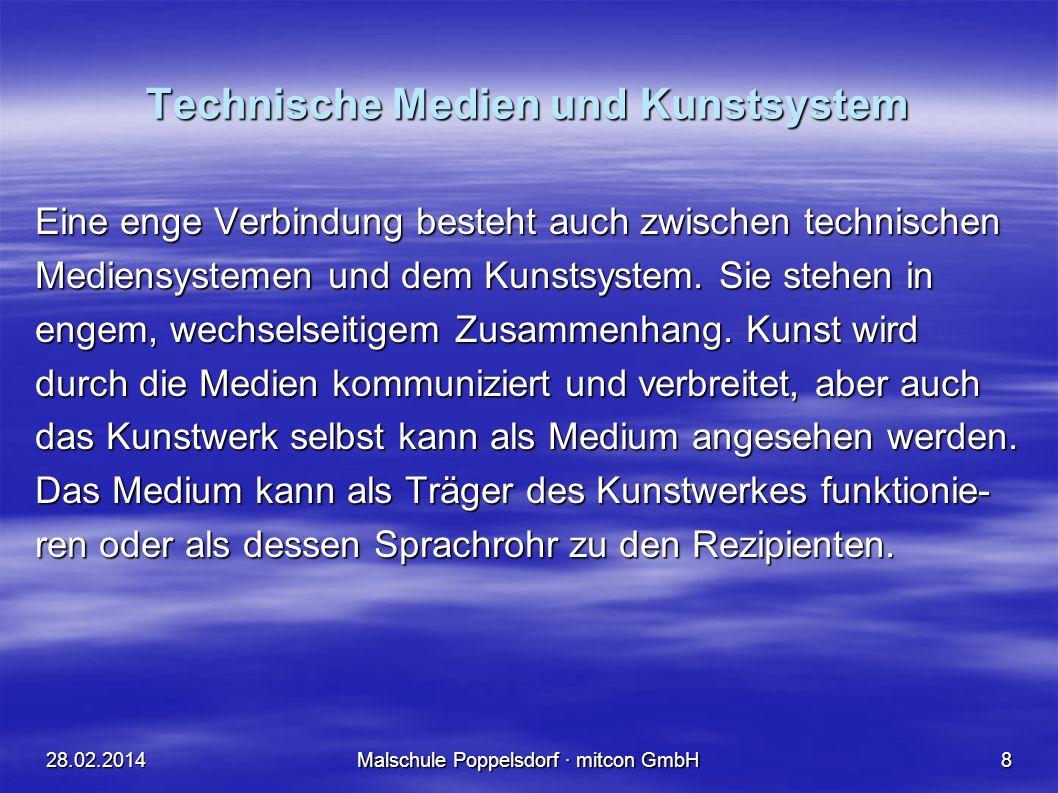 Technische Medien und Kunstsystem