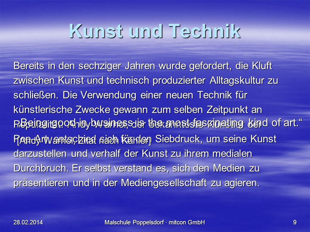 Malschule Poppelsdorf · mitcon GmbH