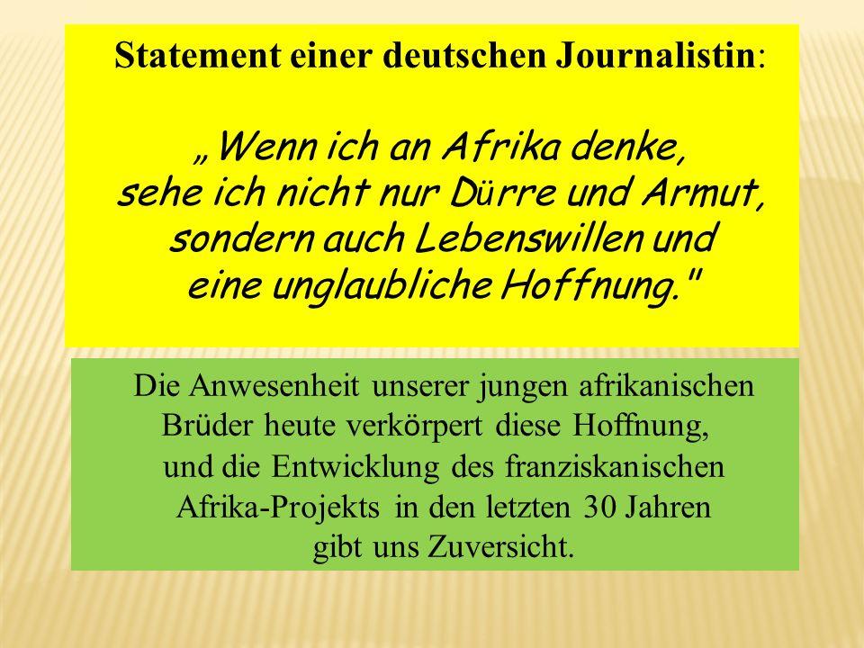 """Statement einer deutschen Journalistin: """"Wenn ich an Afrika denke,"""