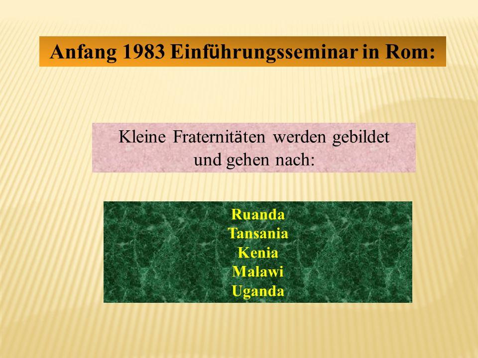 Anfang 1983 Einführungsseminar in Rom: