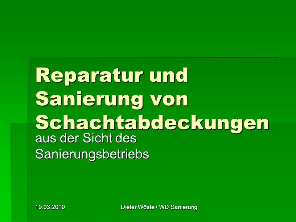 Reparatur und Sanierung von Schachtabdeckungen