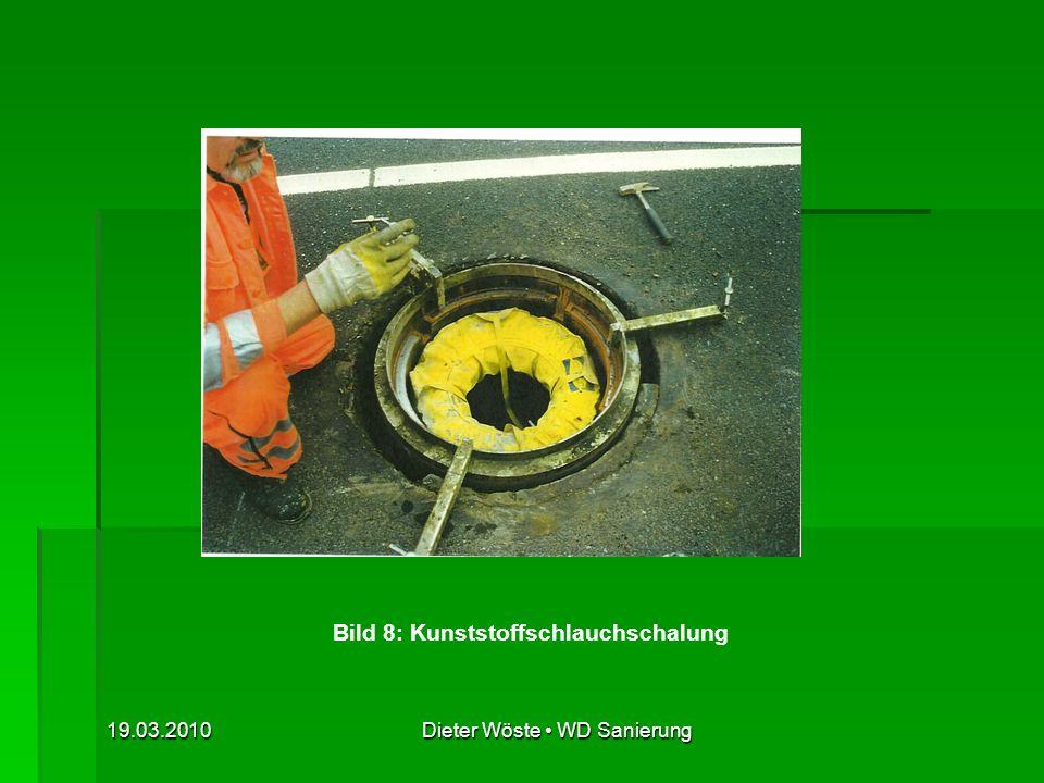 Bild 8: Kunststoffschlauchschalung