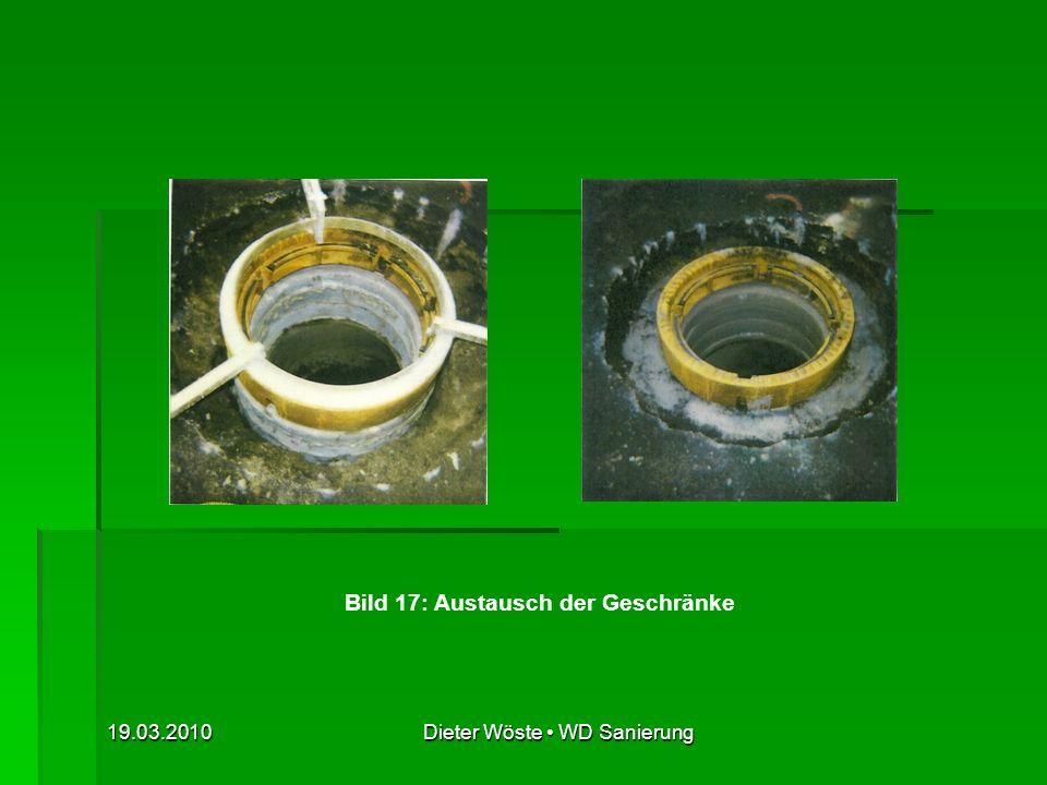 Bild 17: Austausch der Geschränke