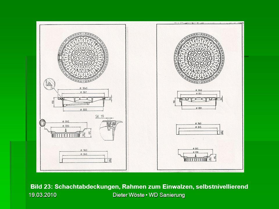 Bild 23: Schachtabdeckungen, Rahmen zum Einwalzen, selbstnivellierend