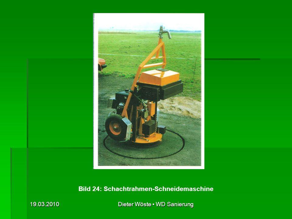 Bild 24: Schachtrahmen-Schneidemaschine