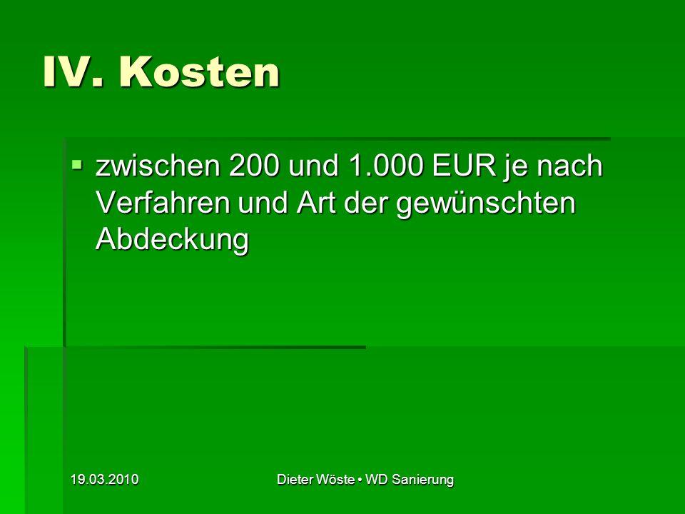 Dieter Wöste • WD Sanierung