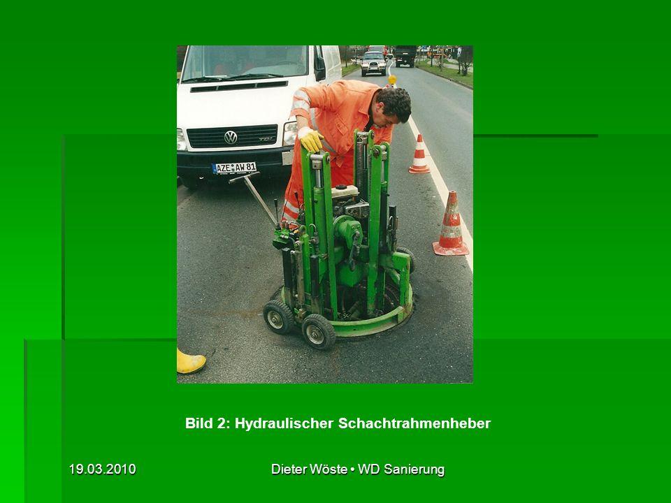 Bild 2: Hydraulischer Schachtrahmenheber