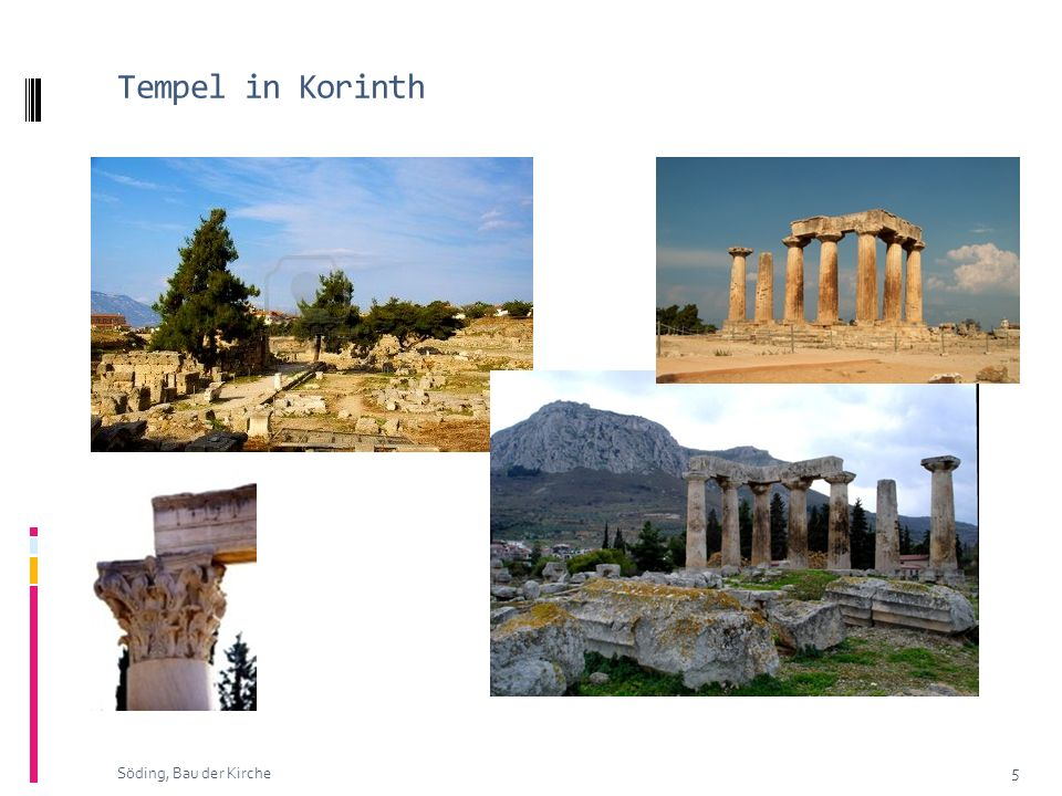 Tempel in Korinth Söding, Bau der Kirche