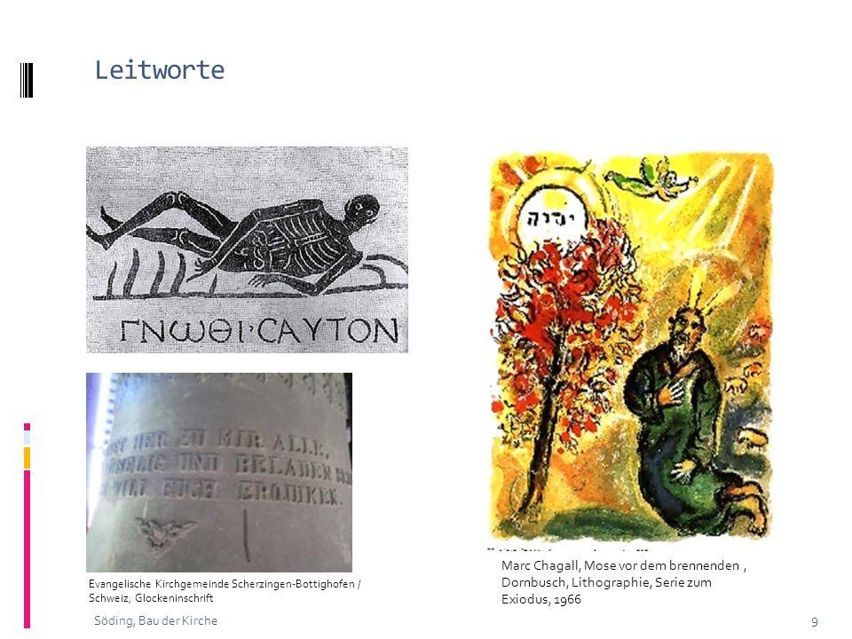 Leitworte Marc Chagall, Mose vor dem brennenden , Dornbusch, Lithographie, Serie zum Exiodus, 1966.