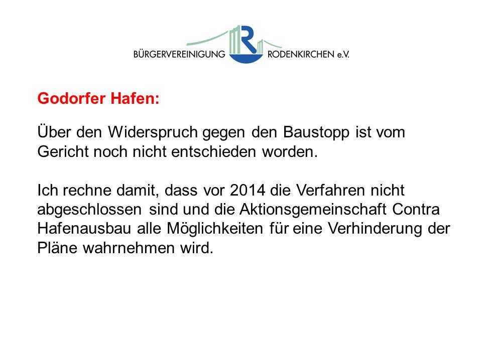 Godorfer Hafen: Über den Widerspruch gegen den Baustopp ist vom Gericht noch nicht entschieden worden.