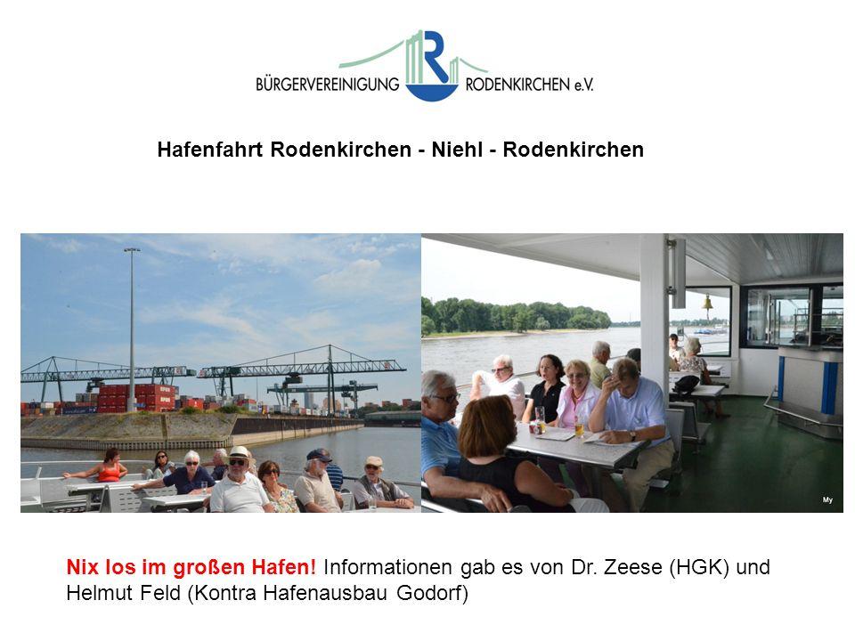 Hafenfahrt Rodenkirchen - Niehl - Rodenkirchen