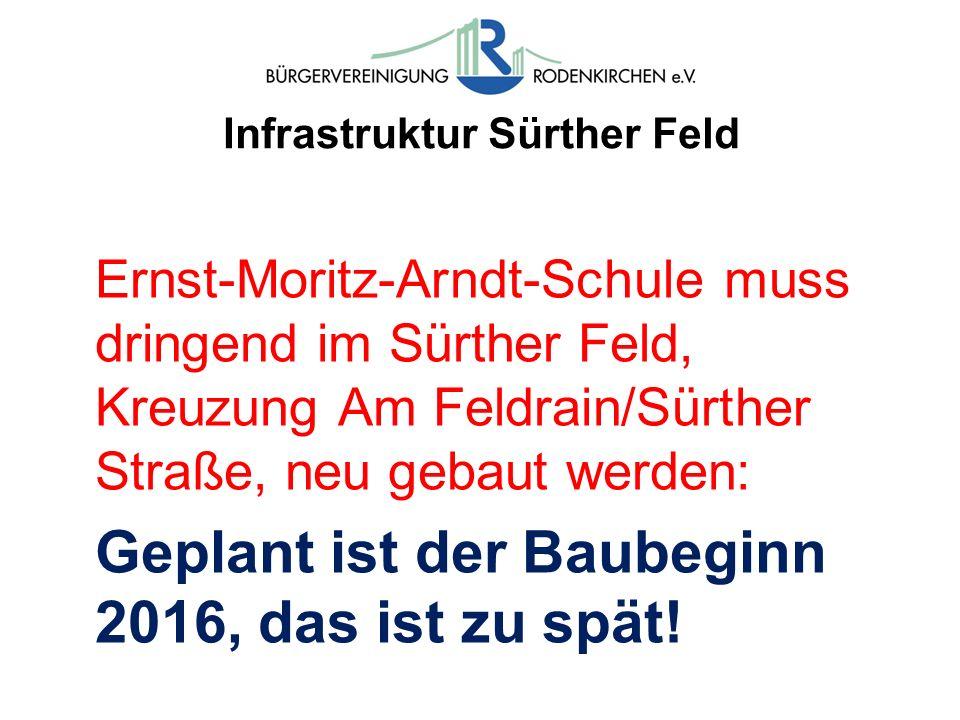 Infrastruktur Sürther Feld