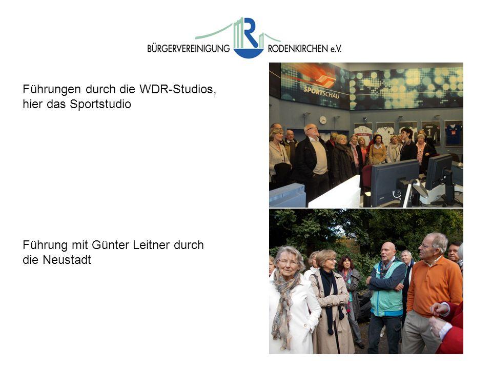 Führungen durch die WDR-Studios, hier das Sportstudio