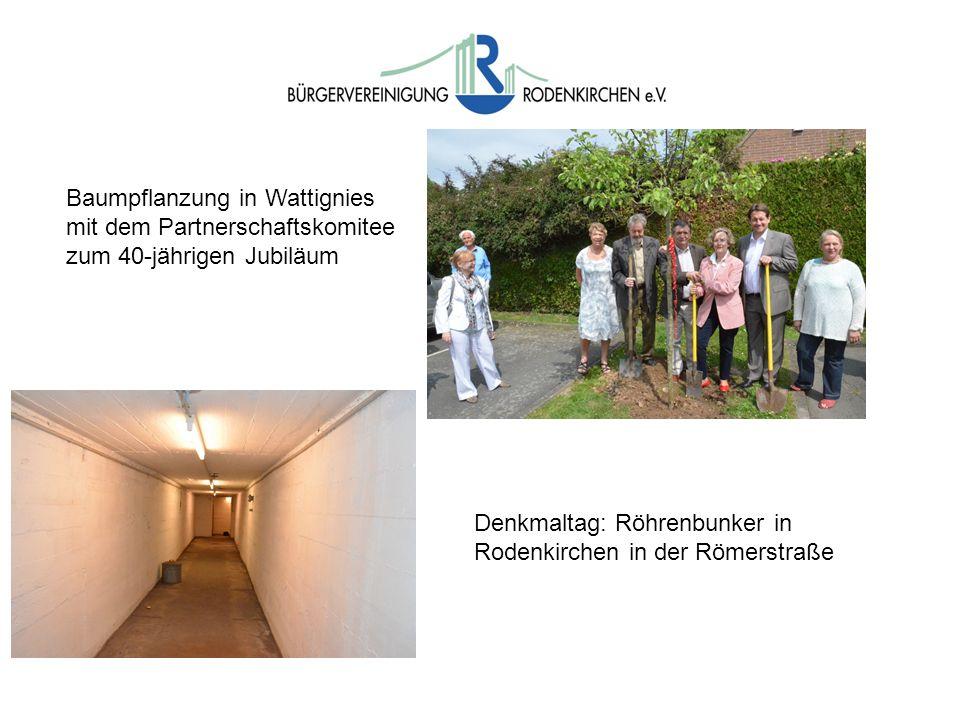 Baumpflanzung in Wattignies mit dem Partnerschaftskomitee zum 40-jährigen Jubiläum