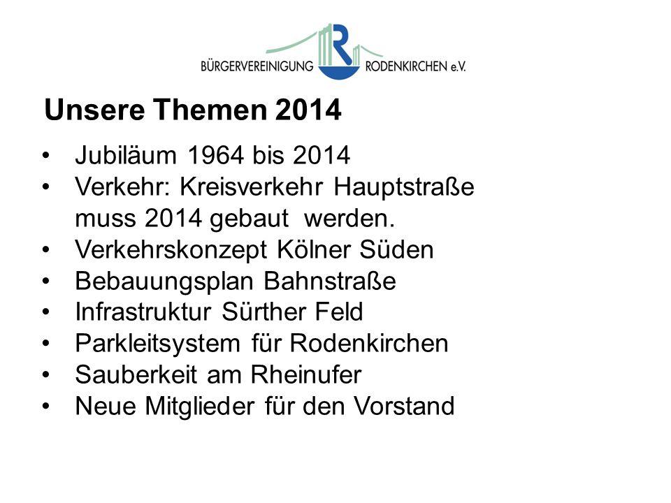 Unsere Themen 2014 Jubiläum 1964 bis 2014