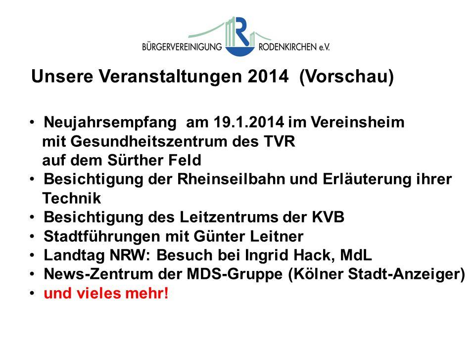 Unsere Veranstaltungen 2014 (Vorschau)