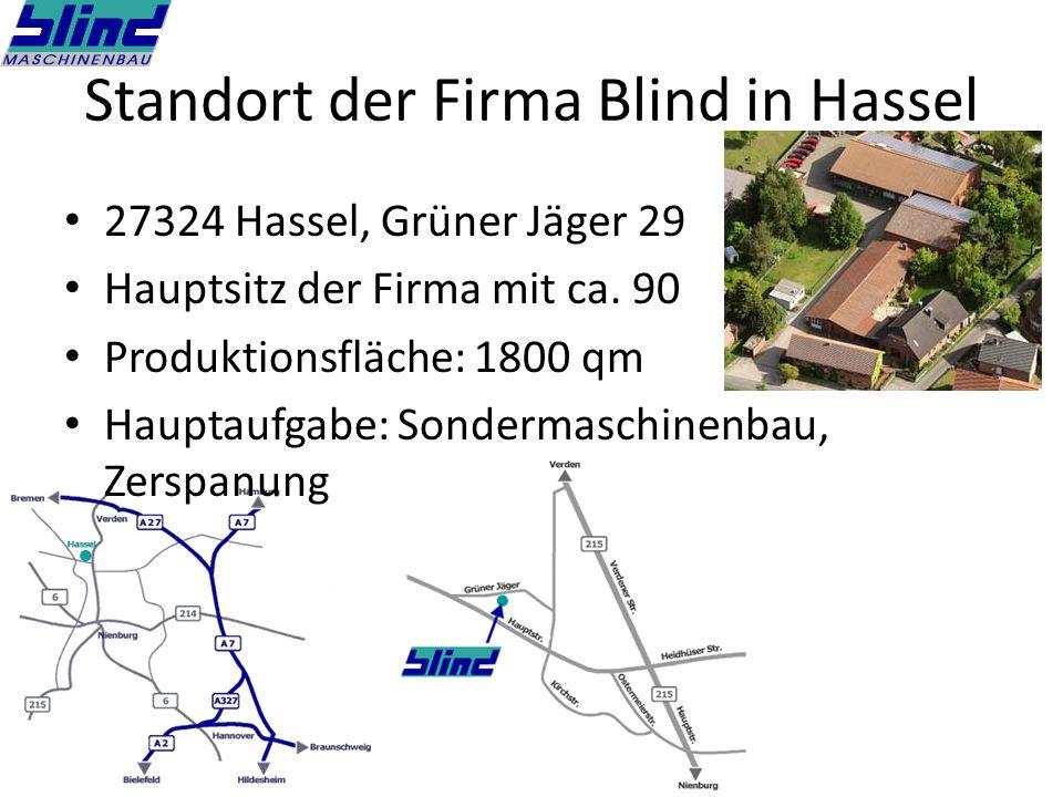 Standort der Firma Blind in Hassel
