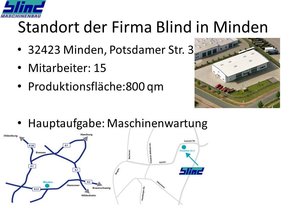 Standort der Firma Blind in Minden