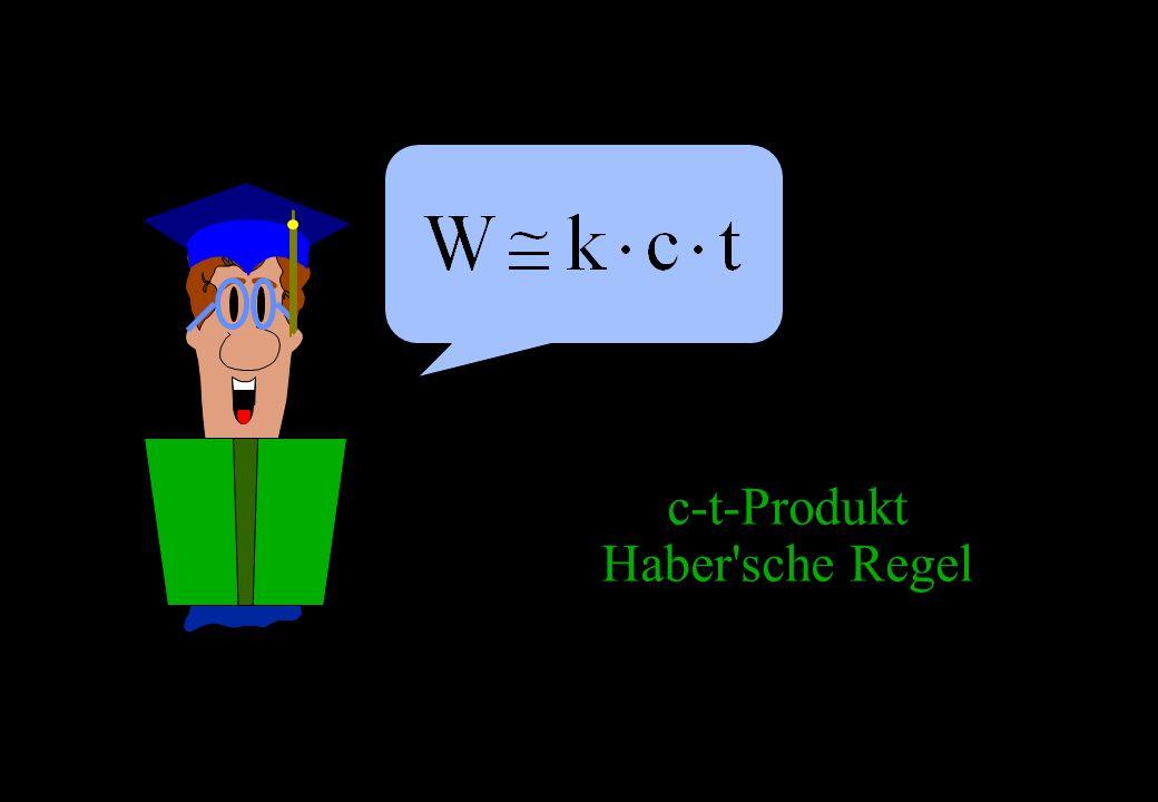 c-t-Produkt Haber sche Regel 168