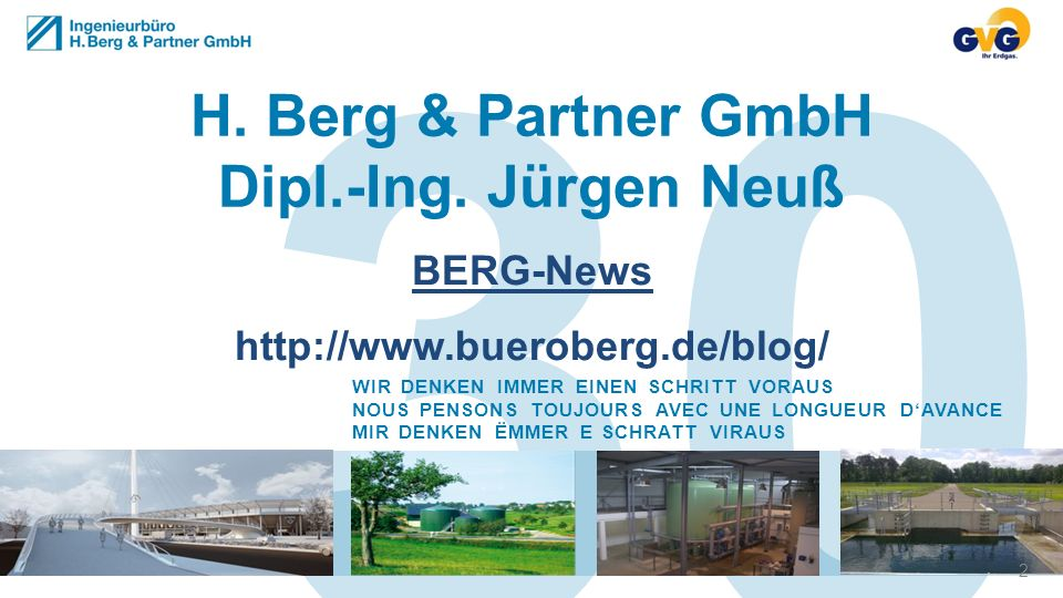 30 H. Berg & Partner GmbH Dipl.-Ing. Jürgen Neuß BERG-News