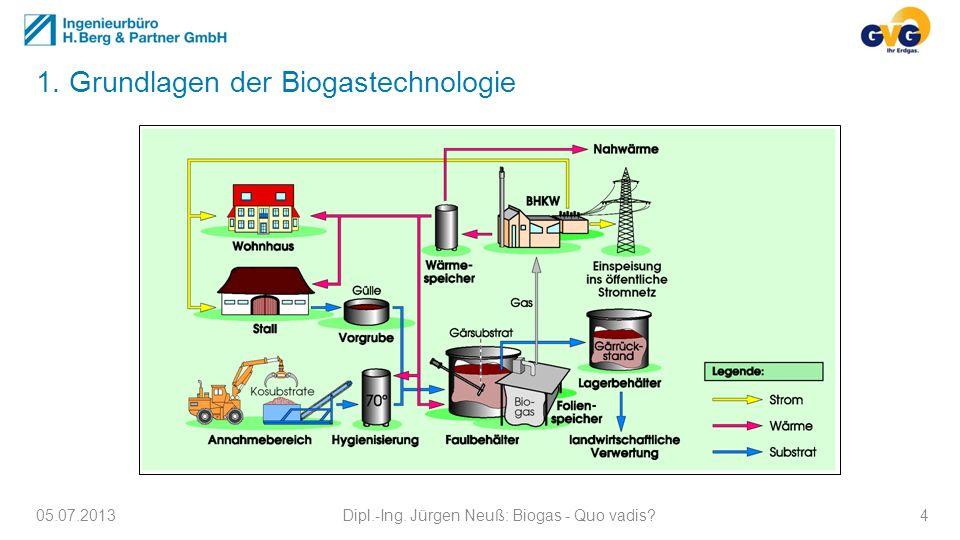 1. Grundlagen der Biogastechnologie