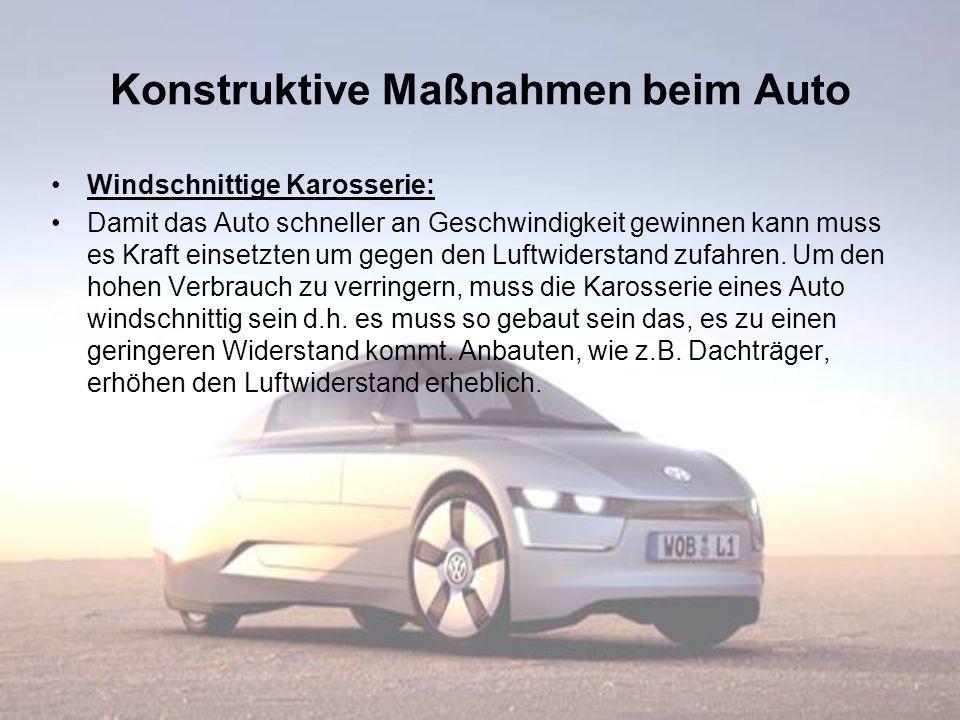 Konstruktive Maßnahmen beim Auto