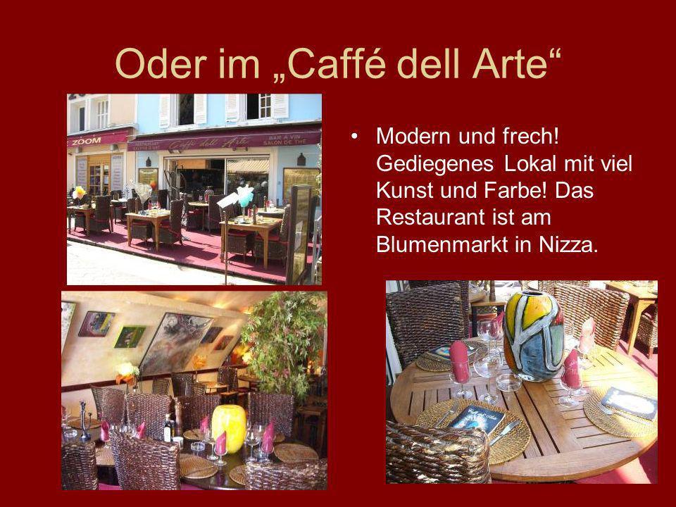 """Oder im """"Caffé dell Arte"""