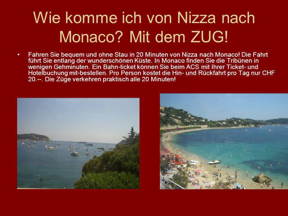 Wie komme ich von Nizza nach Monaco Mit dem ZUG!