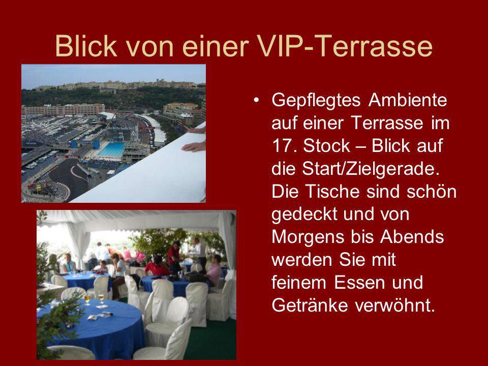 Blick von einer VIP-Terrasse