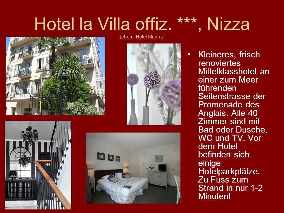 Hotel la Villa offiz. ***, Nizza (ehem. Hotel Marina)