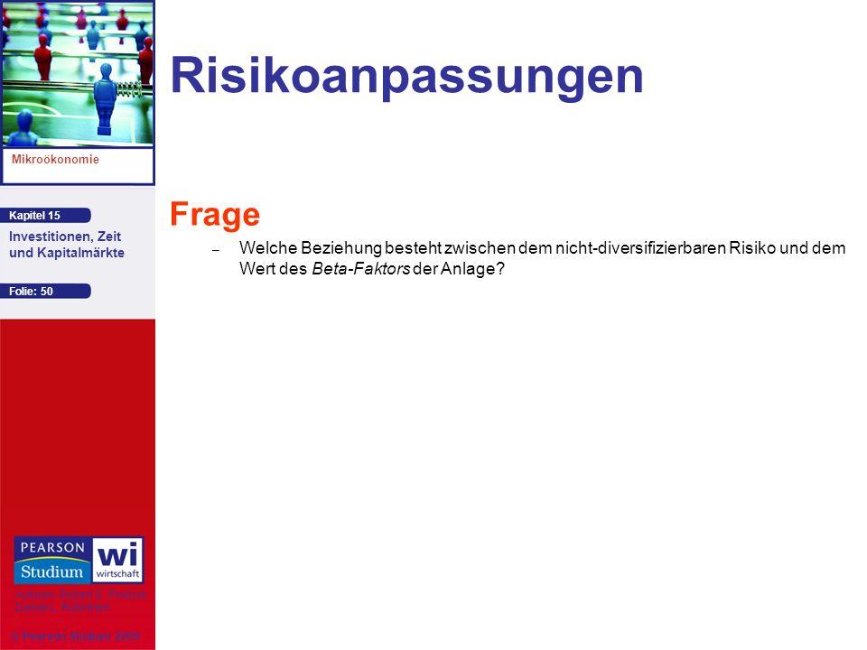 Risikoanpassungen Frage