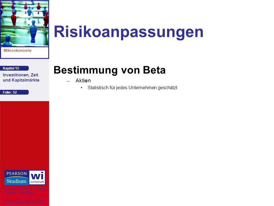 Risikoanpassungen Bestimmung von Beta Aktien