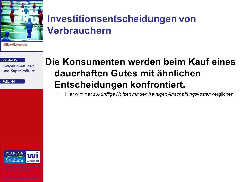 Investitionsentscheidungen von Verbrauchern