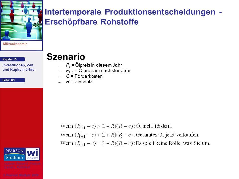 Intertemporale Produktionsentscheidungen -Erschöpfbare Rohstoffe